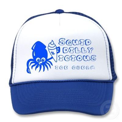 Ice Cream Squid Hat - Blue: $17.95 at Zazzle.com #squid #icecream #art #cute