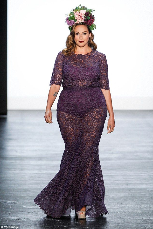Plus Size Models Featured At The Project Runway Finale Show During New York Fashion Week
