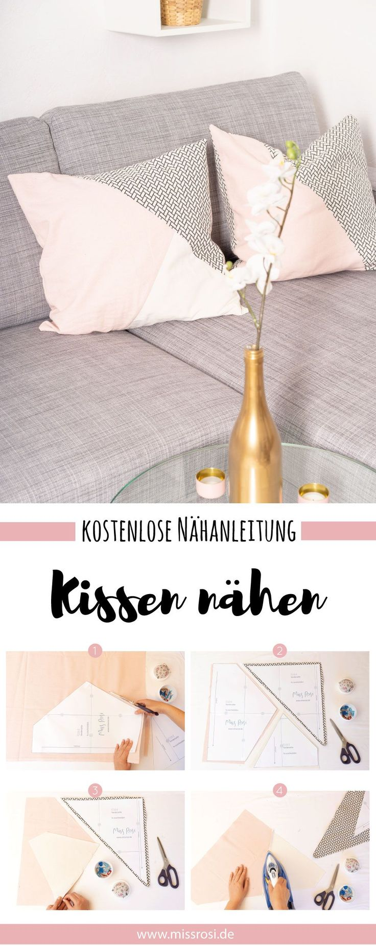 Simple tutorial on how to sew fashionable cushions for your sofa ….   – Nähen für Anfänger