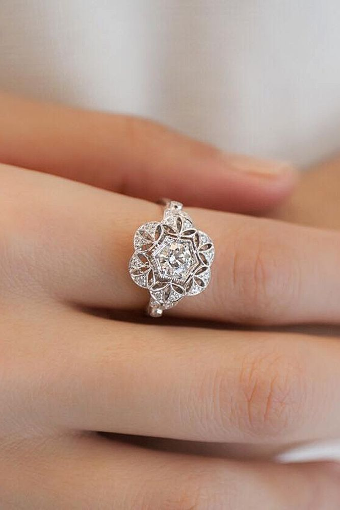 Engagement Rings 30 White Gold Engagement Rings That Every Bride