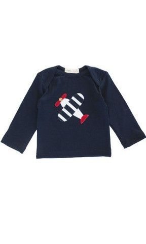 Suprino Spitfire Applique Top Ink 3-6mth http://gilmourspharmacy.co.nz/collections/gifts-baby/suprino-bambino