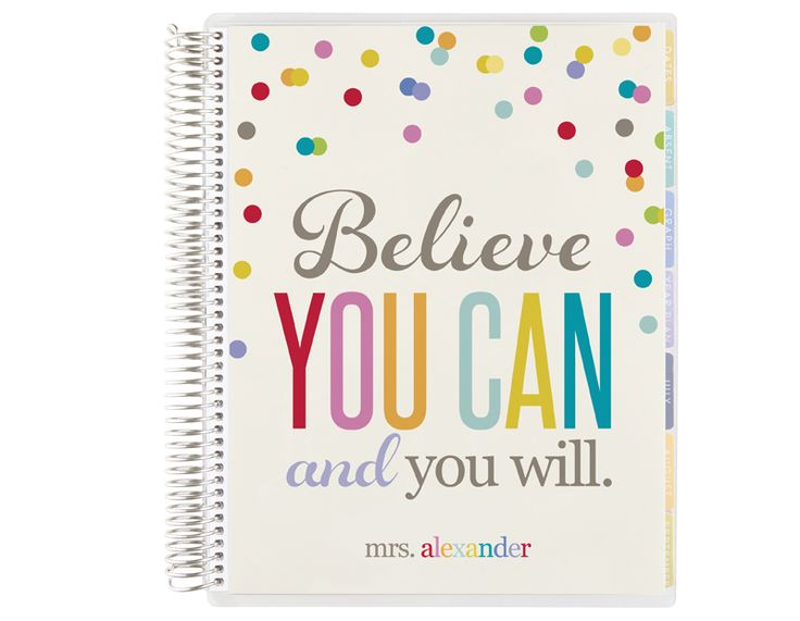 teacher's lesson planner -believe you can
