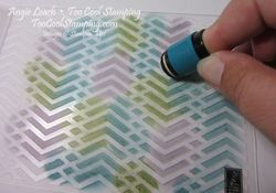 Stamping With Embossing Folders - Too Cool Stamping  •Use Sponge Daubers to add Ink colors directly to one side of an embossing folder.  Use several colors that will blend well together & apply them randomly without overlapping You'll get a different pattern depending on which side of the embossing folder you use. Spritz the inked folder with water several times until the ink starts beading. To clean folders simply rinse them under tap water & blot dry with a towel.