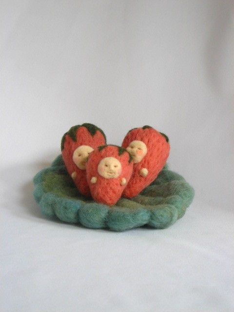 Needle Felted Berry Babies