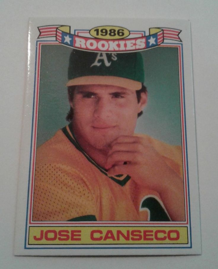 1987 topps 86 rookies jose canseco rookie card 3