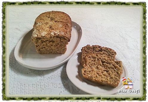 Pão integral com grãos de trigo germinados