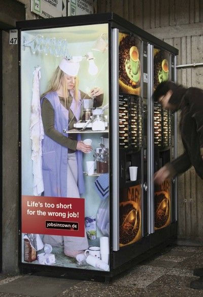 coffee dispenser creative job ad