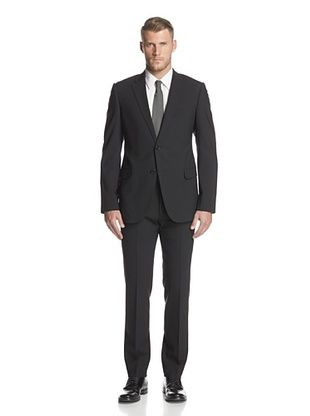 -65,400% OFF Armani Collezioni Men's Notch Lapel Two Button Suit (Black)
