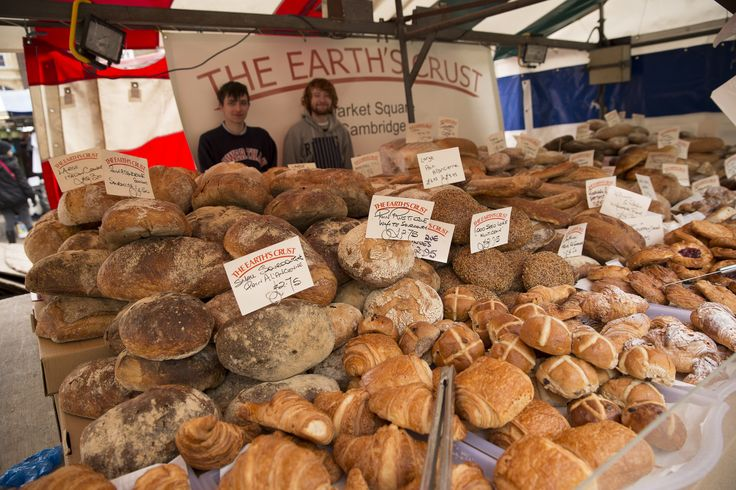 Bread Stall on Cambridge Market http://www.beyond-london-travel.com/Best-Things-to-Do-in-Cambridge.html