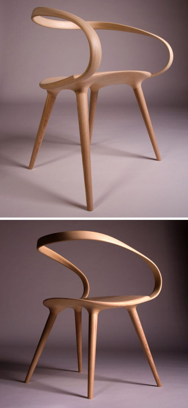 wooden design furniture. the velo chair uses a single piece of bent wood as backrest when british designer jan waterston was creating his inspiration came from wooden design furniture