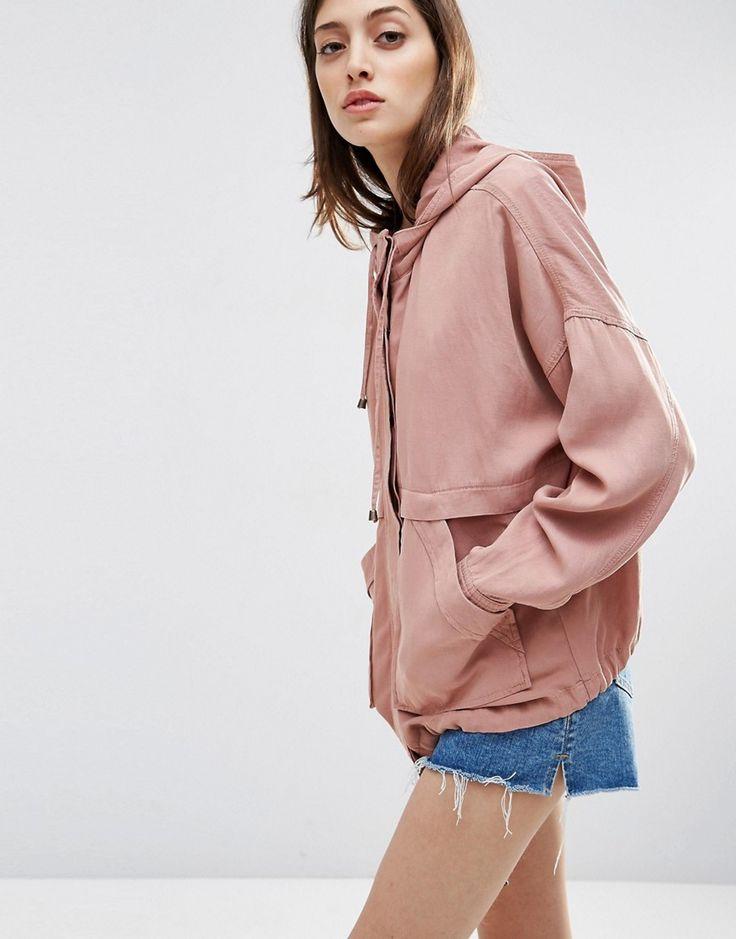 Image 1 ofASOS Washed Cotton Summer Jacket