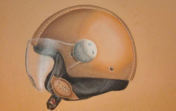 PL-1 Pastel. Tod's Leather Helmet: