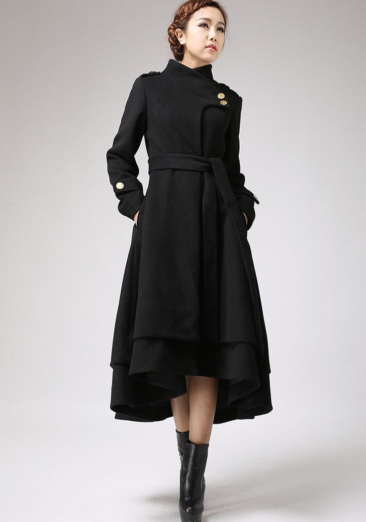 Girls black dress coats, white girls blowjobs