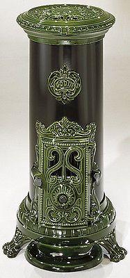Nouveau 5 kw Godin 3720 style antique fonte poêle à bois multifuel charbon vert