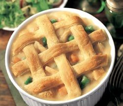 Salmon Pot Pie Recipe with Chicken of the Sea® Premium Skinless & Boneless Pink Salmon Pouch.