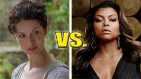 Taraji P. Henson ('Empire') faces tough competition from Caitriona Balfe ('Outlander') for Best TV Drama Actress at the Golden Globes.