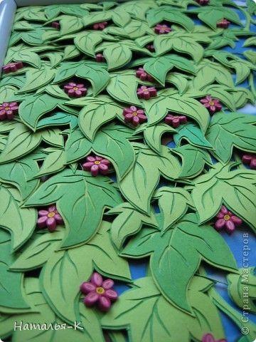 Мастер-класс Аппликация Объёмные листья Картон Клей фото 1