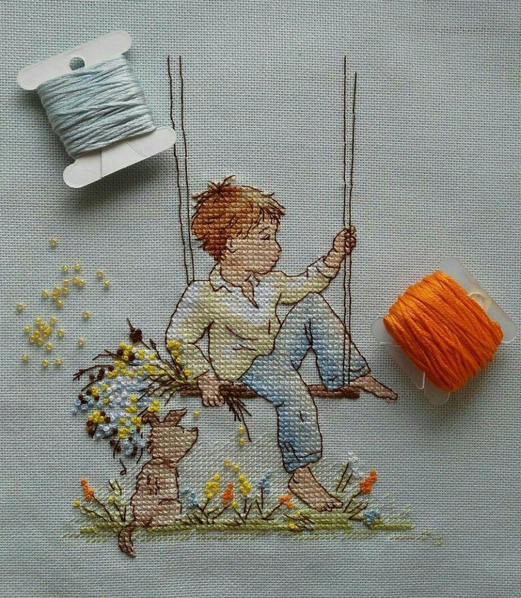 Little Dreamer. Artist Ekaterina Babok. Cross Stitch Pattern by Kseniya Adonyeva. www.crossstitchclub.com