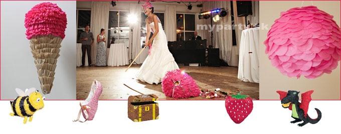Piňata je super hra na svadbu.