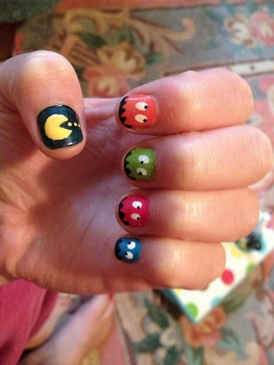 Best 25 pac man nails ideas on pinterest mens nails men nail pac man nail art prinsesfo Image collections