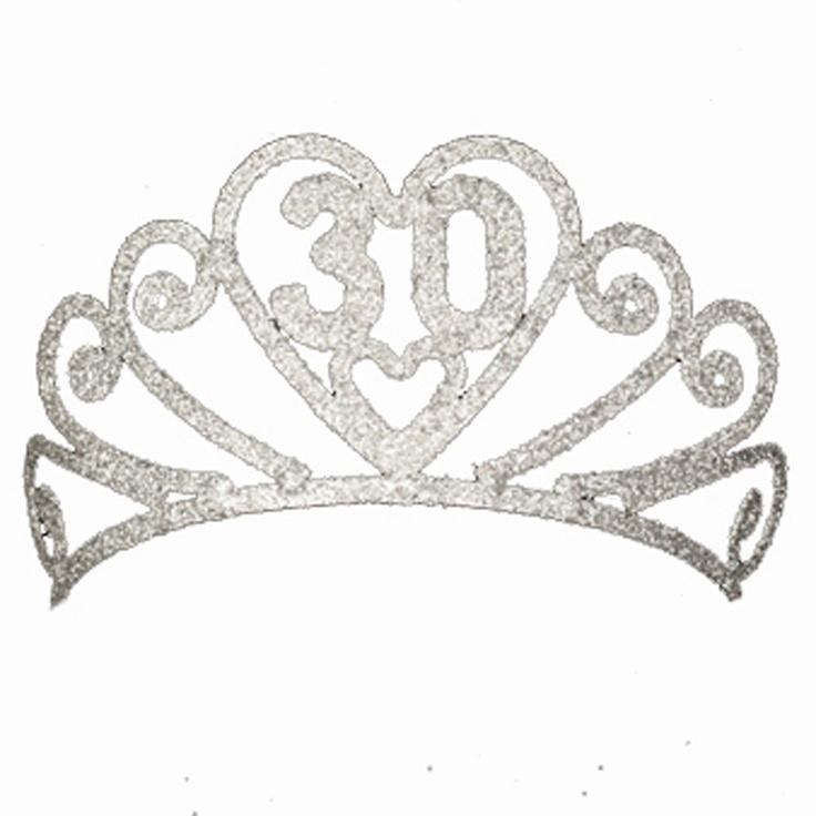 30th Birthday Tiara - 30 Glitter Tiara - Perfect for a Birthday Party Gift