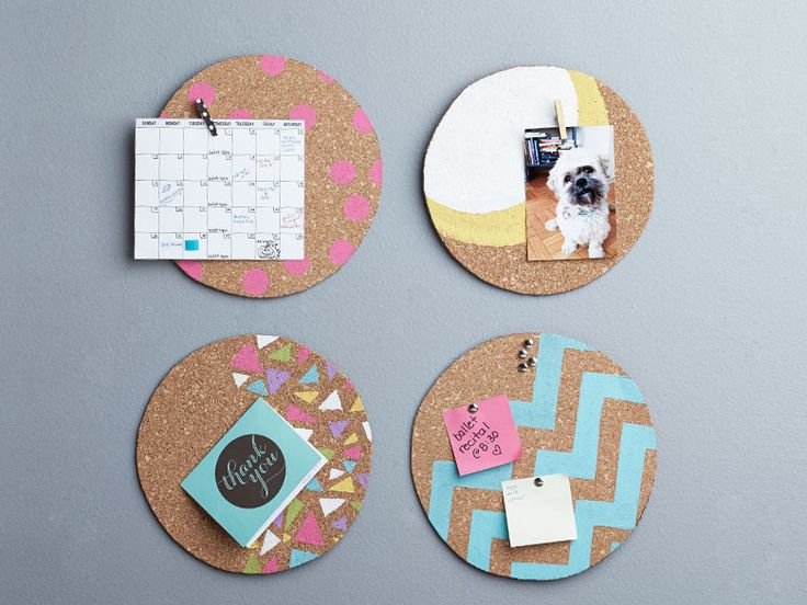 Craft up some personalized message boards for each member of your family to eliminate scheduling surprises and make your walls look pretty, too!