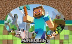 Fiesta de Minecraft: Invitaciones, Gorro y Cono para Imprimir Gratis.