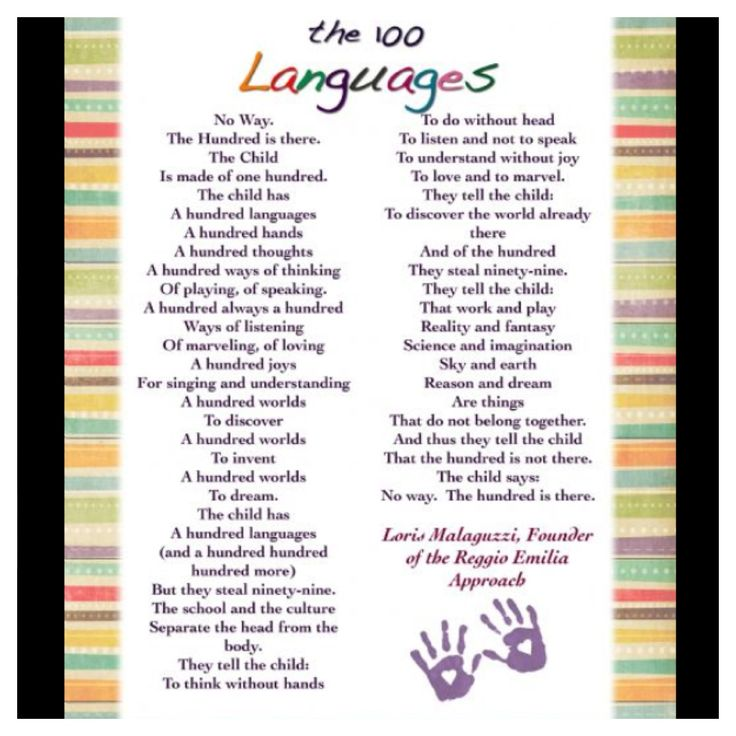 The 100 Languages of Children, Loris Malaguzzi, founder of the Reggio Emilia Approach