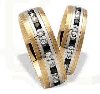 Wyjątkowe obrączki z żółtego i białego złota/ Special wedding rings made from white and yellow gold/ 3 136 PLN #jewellery #wedding #rings #gold #love #weddingtime