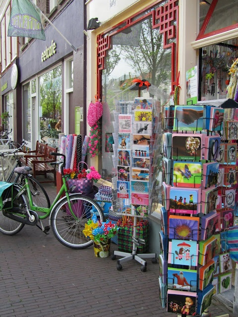 Store Sidewalk in Delft, Southern Holland,  via MadeliefStores Front, Madelief Gardens, Shoppi Shops, Southern Holland, Red Wood, Stores Sidewalk, Stores Shops Design Ideas, Storefront Madelief, Storefront Ideas