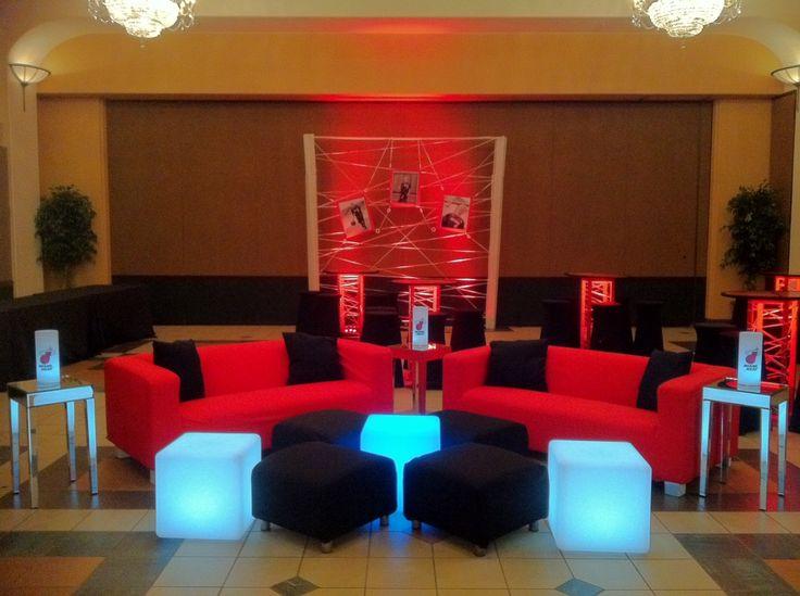 Miami Heat Basketball Theme Bar Mitzvah Event Decor Red