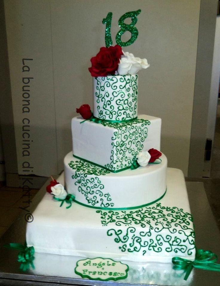 La buona cucina di katty torta 18 wedding con rose e - La cucina di sara torte ...