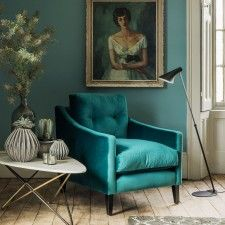 peacock velvet chair for evenings in.