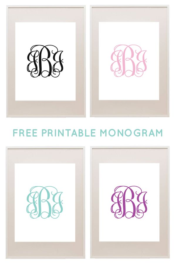 Free printable monograms from printablemonogram.com #freeprintable #monogram More