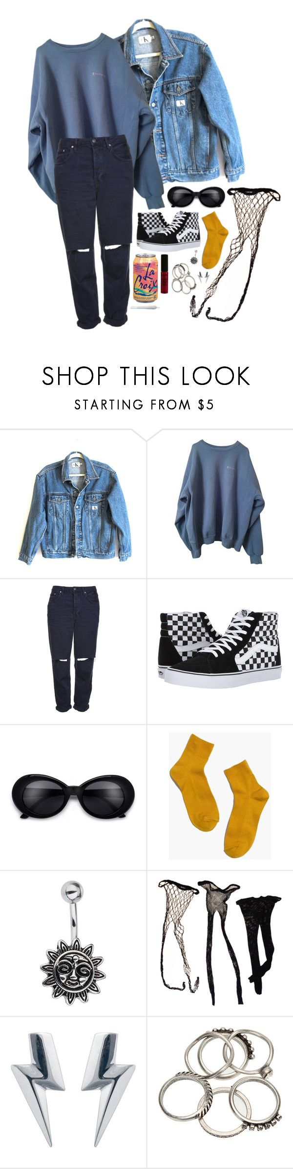 """""""Untitled #321"""" by avilaclare ❤ liked on Polyvore featuring Calvin Klein Jeans, Topshop, Vans, Madewell, Miss Selfridge, Edge Only and NYX"""