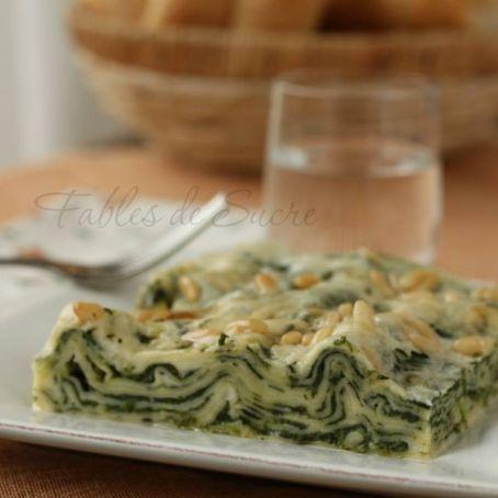 Lasagne con spinaci e gorgonzola