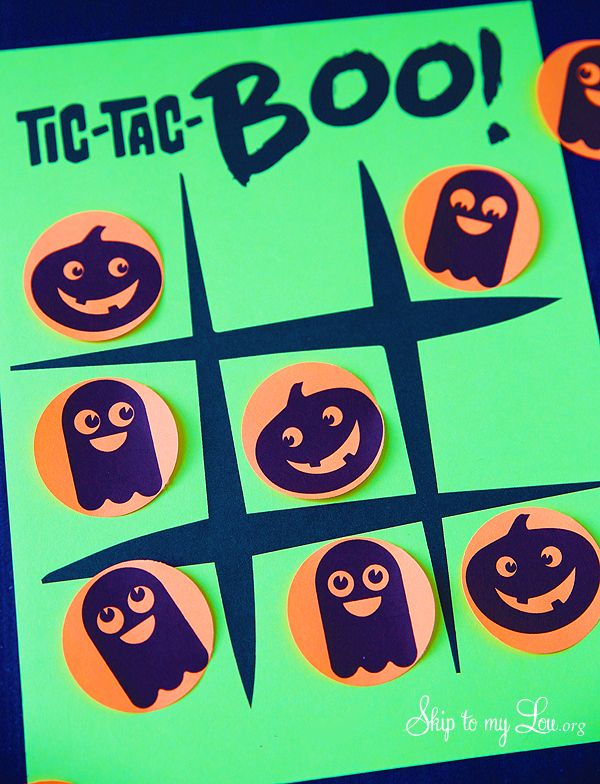 Printable Halloween tic tac toe from MichaelsMakers Skip to my Lou
