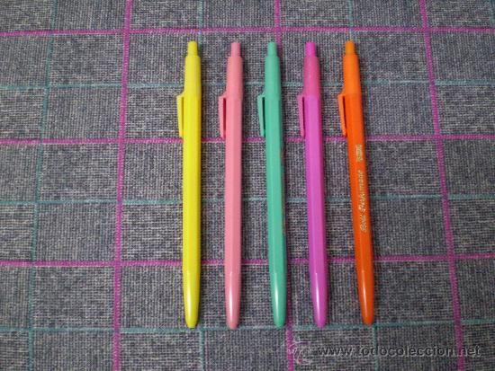 Lote de 5 bolígrafos perfumados Universal de los 80... Yo los tuve!!