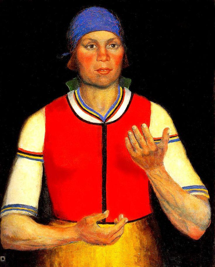 Kazimir Malevich -arbeidster 1933