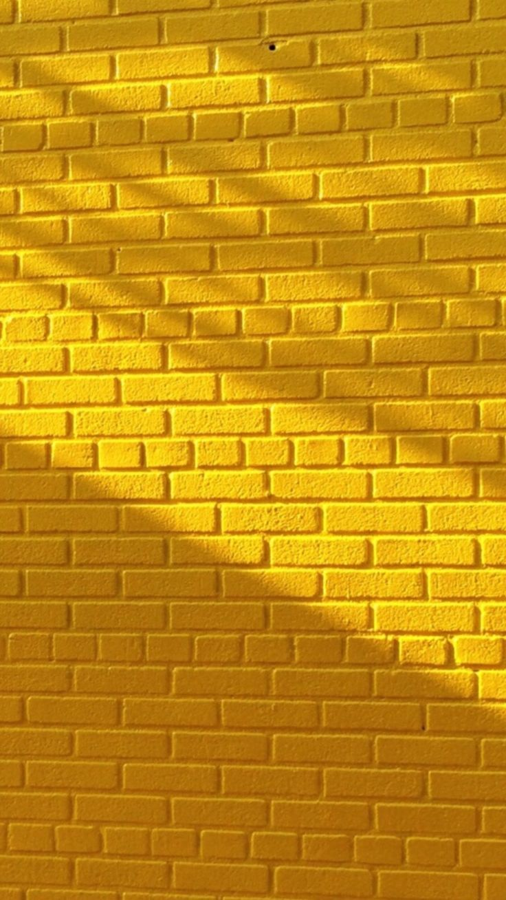 Yellow brick wall with beautiful lighting | Wallpapers for Your ...