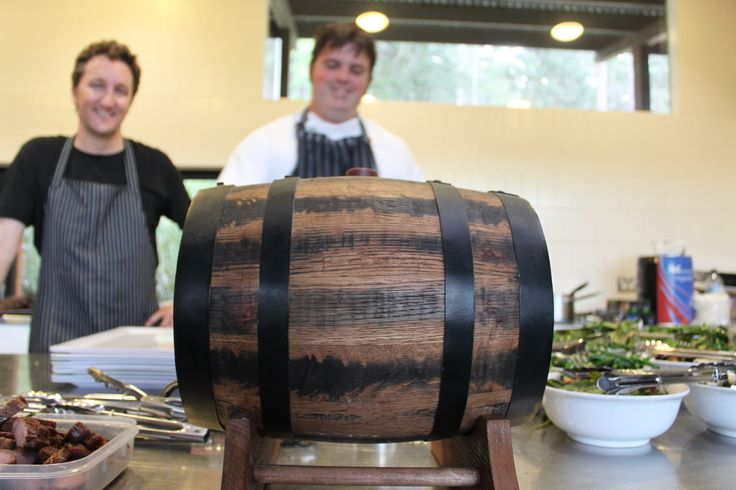 Chef Gordon and right hand man Nigel prepping at a recent wedding at Riversdale.