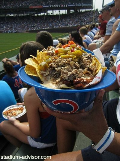 Wrigley Field bleachers have food you can share with ALL of your friends, even your new found friends. http://www.stadium-advisor.com/chicago-cub-tickets.html