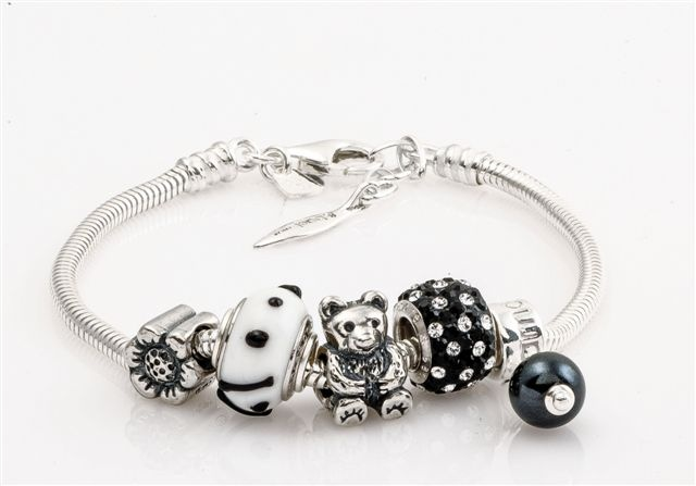 Amore & Baci black and white composed bracelet