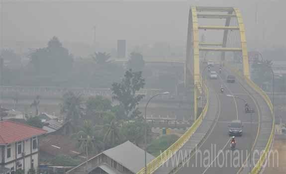 Waspada! Riau Kembali Diselimuti Kabut Asap Kiriman Sumsel