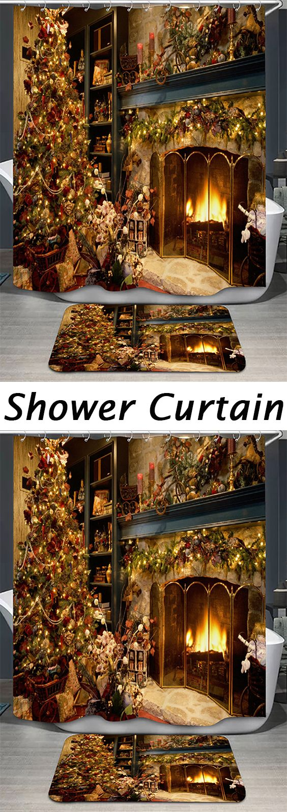 Highly Recommend it,50% OFF Christmas Shower Curtains,Free Shipping Worldwide.