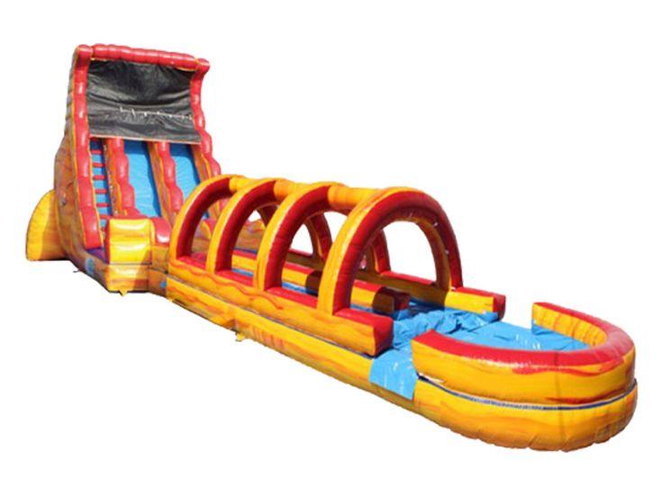 Cheap Adult 19'h 2-lane Screamer Slide, Buy Air Inflatable Slide UK For Sale