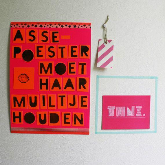 Assepoester moet haar muiltje houden #Poster #Walldecoration