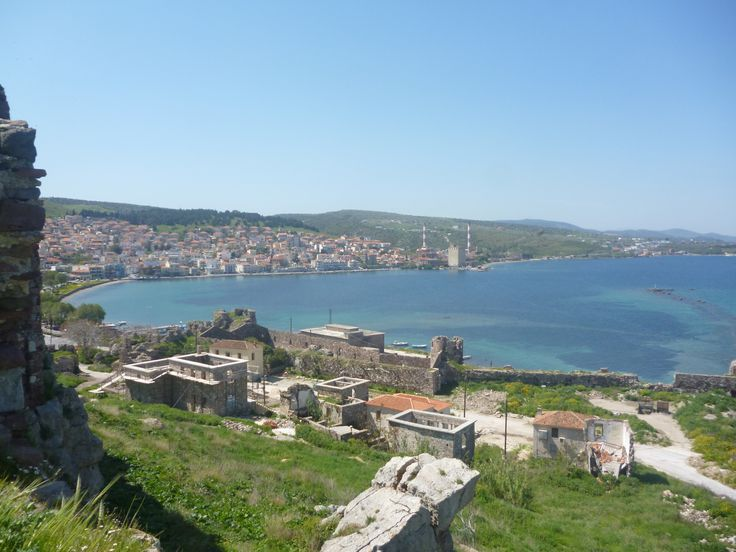 The beautiful view from the castle of Mytilini.