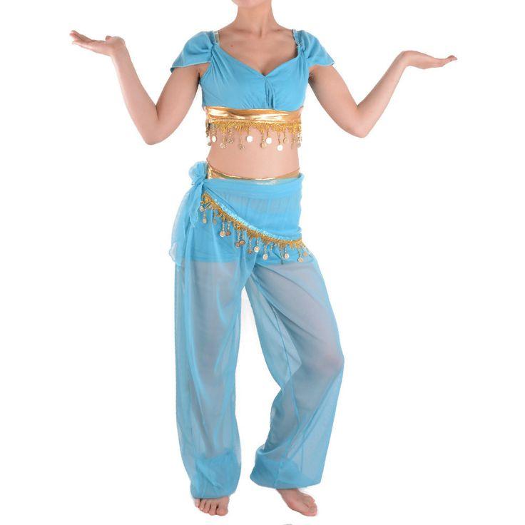 Сексуальный костюм принцесса жасмин взрослых аладдина косплей хэллоуин костюмы для женщин танец живота платье талия цепи оптовая продажакупить в магазине ShangHai MeiYin E-Business Co., LtdнаAliExpress