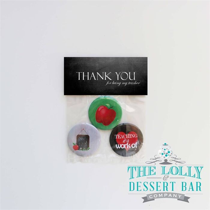 Magnet set Teacher thank you gift. 3x 44mm magnets. Red apple | The Lolly & Dessert Bar Company | madeit.com.au